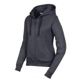 2806 Sweat shirt à capuche zippé femme
