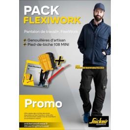 6903 Pantalon de travail  flexi + genouillères gratuites + pied de biche